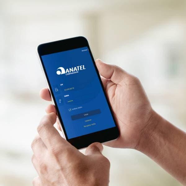 Aplicativo mobile comparador ANATEL Tela Inicial