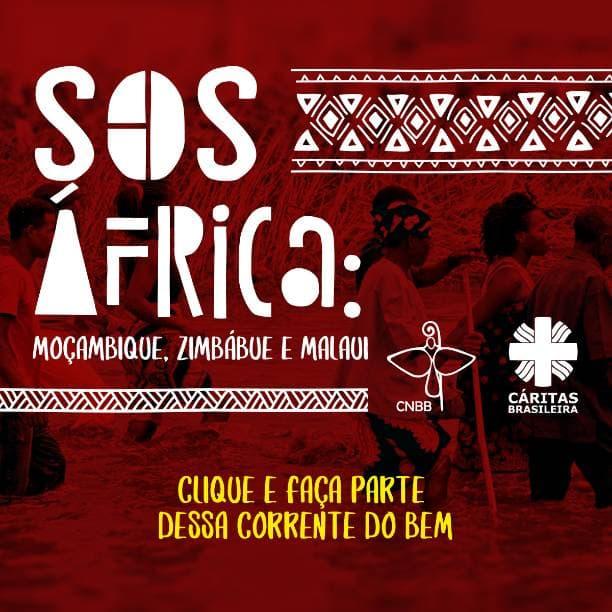 Campanha SOS África Caritas Brasileira arte para doação vermelha