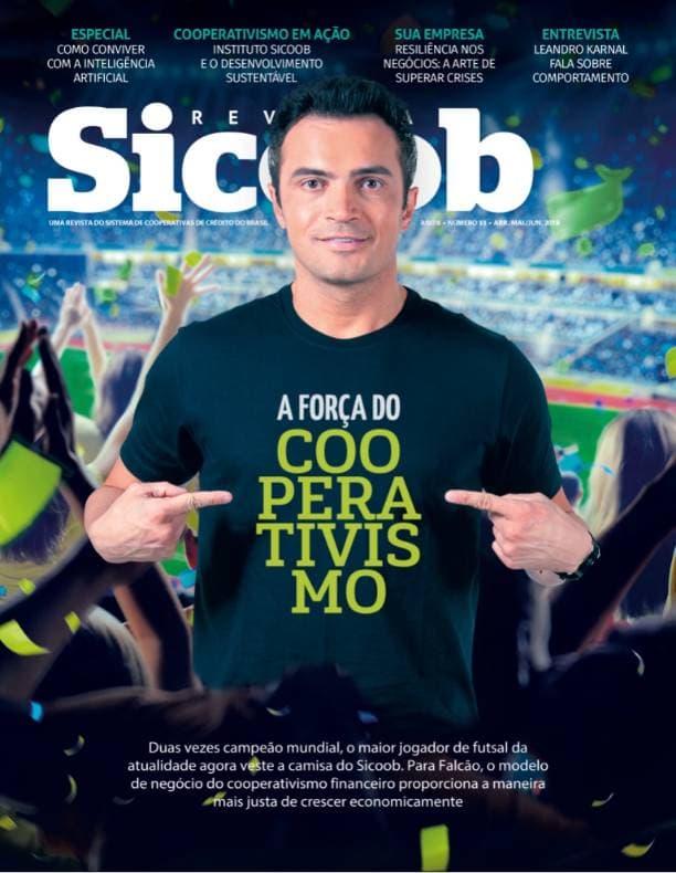Capa impressa revista SICOOB edição 33