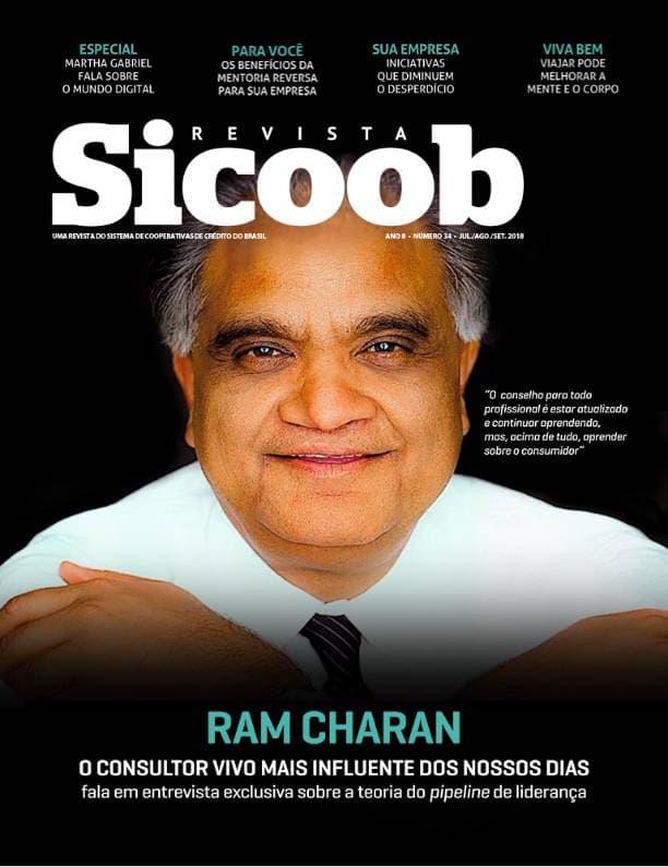 Capa impressa revista SICOOB edição 34