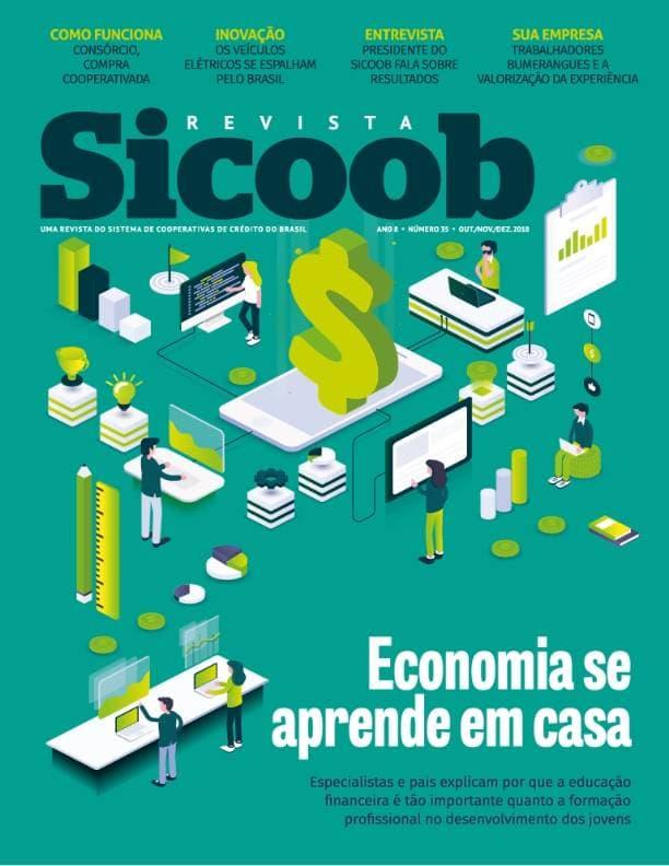 Capa impressa revista SICOOB edição 35
