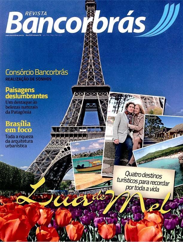 Capa impressa revista Bancorbrás edição 70