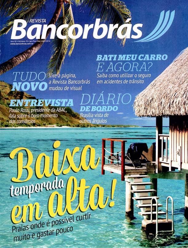 Capa impressa revista Bancorbrás edição 76
