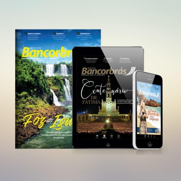 Revistas Bancorbrás impresso, tablet e mobile